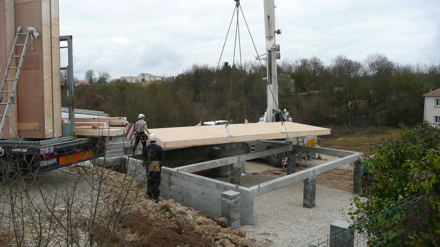 Chantier Construction Maison En Bois cologique Ecop Habitat
