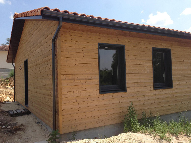 Vue extérieure dune maison en bois ECOP Habitat