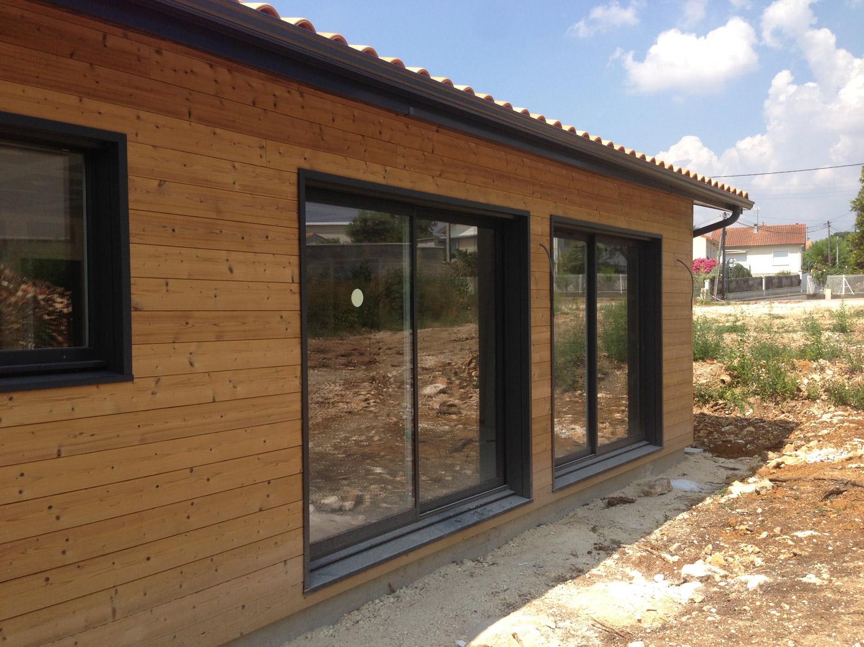 Menuiseries alu sur une construction bois ecop habitat Maison et construction