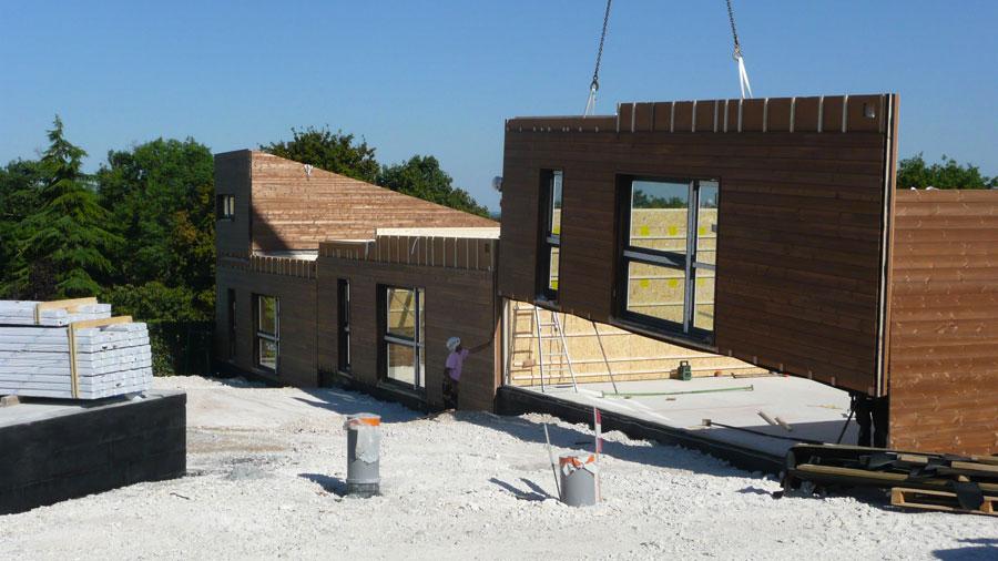 Construction Bois Ecologique : en bois maison bois projet syx maison bois projet rcl maison bois