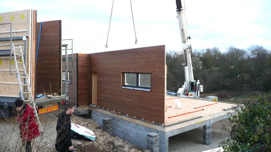 Construction maison bois cologique derniers chantiers for Aide construction maison