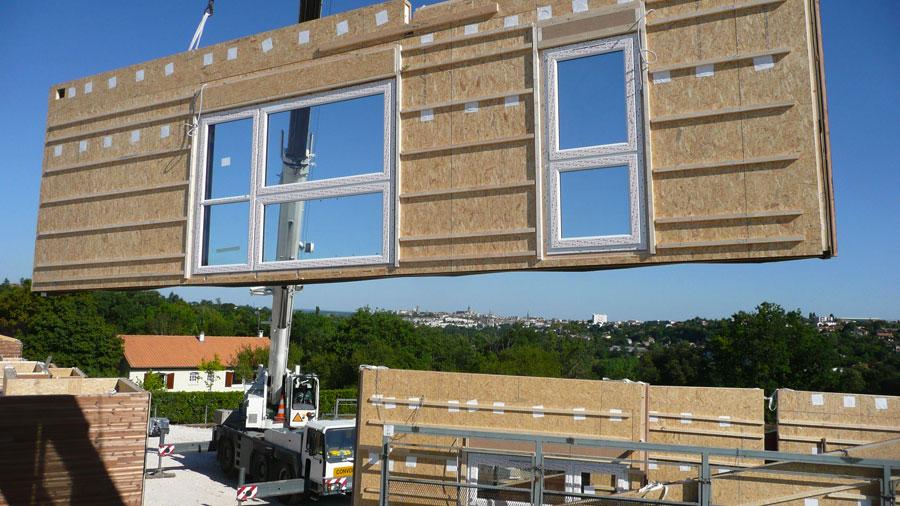 Construction maison bois cologique derniers chantiers for Construction en bois neuchatel