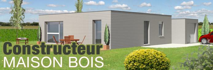 Construction Bois Ecologique : Construction maison bois ?cologique avec mur en ossature