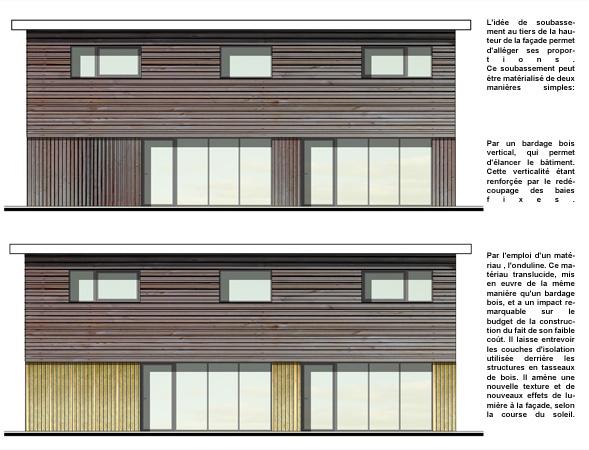 Façades de maisons écologiques - Ecop Habitat constructeur bois CCMI ...