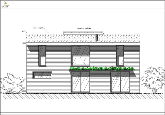 Plan Toiture Maison Of Facade Vegetalisee Exemples Photos Accueil Design Et