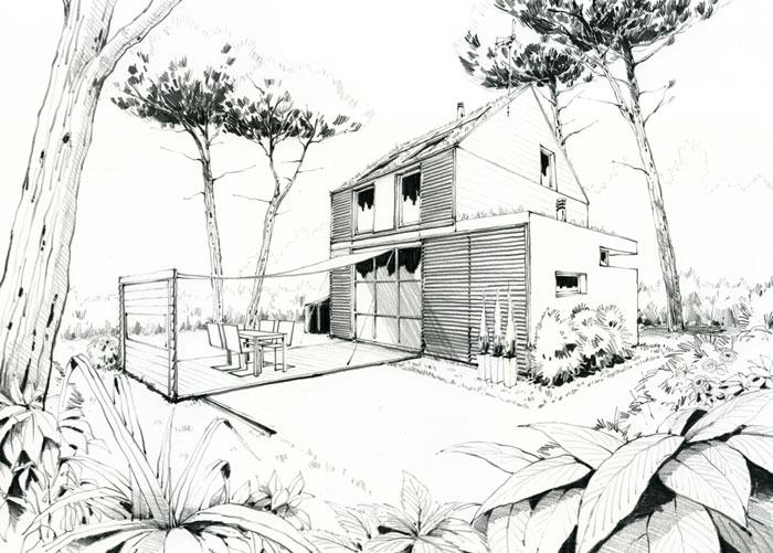 plan maison ecologique plan habill rdc maison une maison au service de luhomme et de with plan. Black Bedroom Furniture Sets. Home Design Ideas