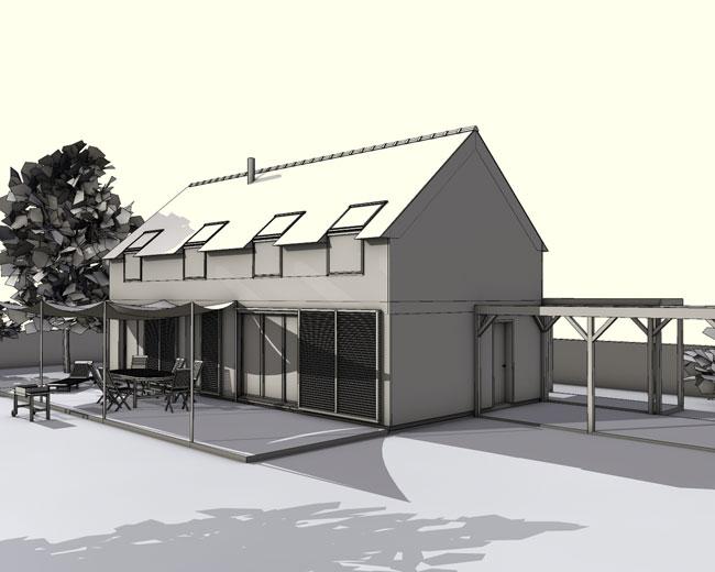 Int grations maisons cologiques ecop habitat for Constructeur maison sud est