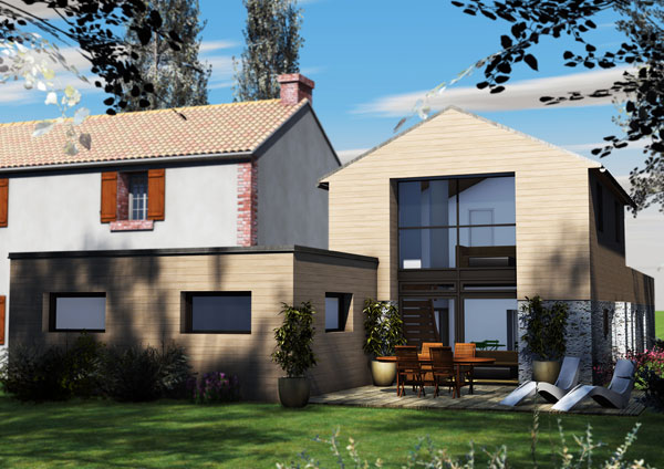 Modern villas architecture design goussainville 95 09 for Prix au m2 d une extension de maison
