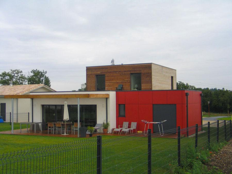 Construction maison bois cologique avec mur en ossature for Acheter une maison dans le sud ouest de la france
