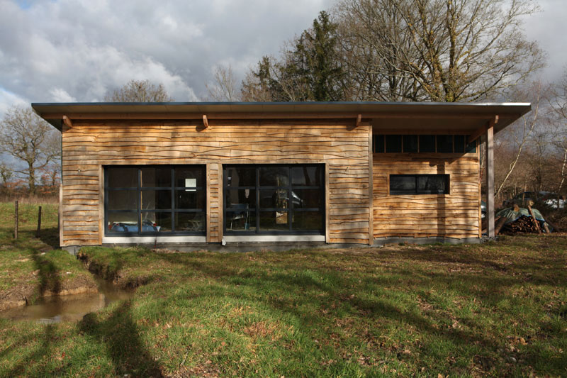 Chalet en bois habitable joy studio design gallery for Maison ecologique en bois