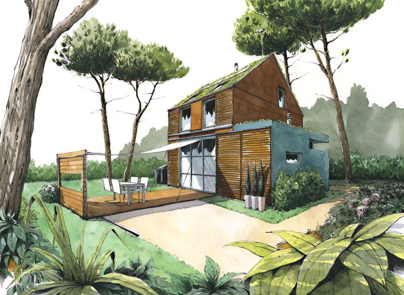 Constructeur ccmi maison écologique et bioclimatique en bois rt