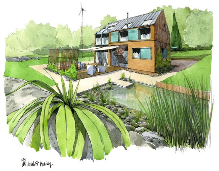 ecop habitat maisons cologiques maisons bioclimatiques maisons pictures to pin on pinterest. Black Bedroom Furniture Sets. Home Design Ideas