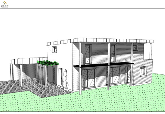 Perspective d 39 une maison gascity for for Apprendre a dessiner une maison en perspective