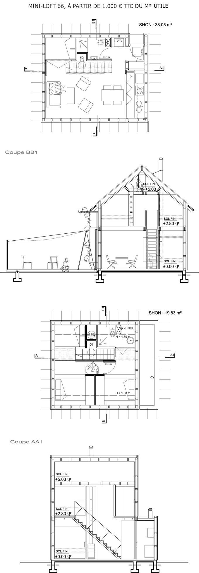 Plan maison cologique medium constructeur maison bois ccmi rt2012 - Plan maison bioclimatique ...