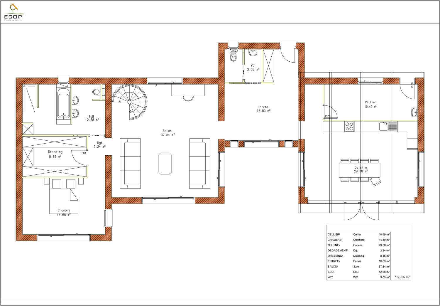 Plan maison image for Plan contemporaine maison
