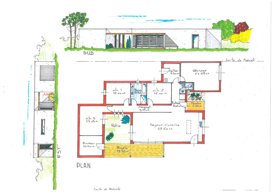 Plan maison cologique medium constructeur maison bois for Plan maison positive