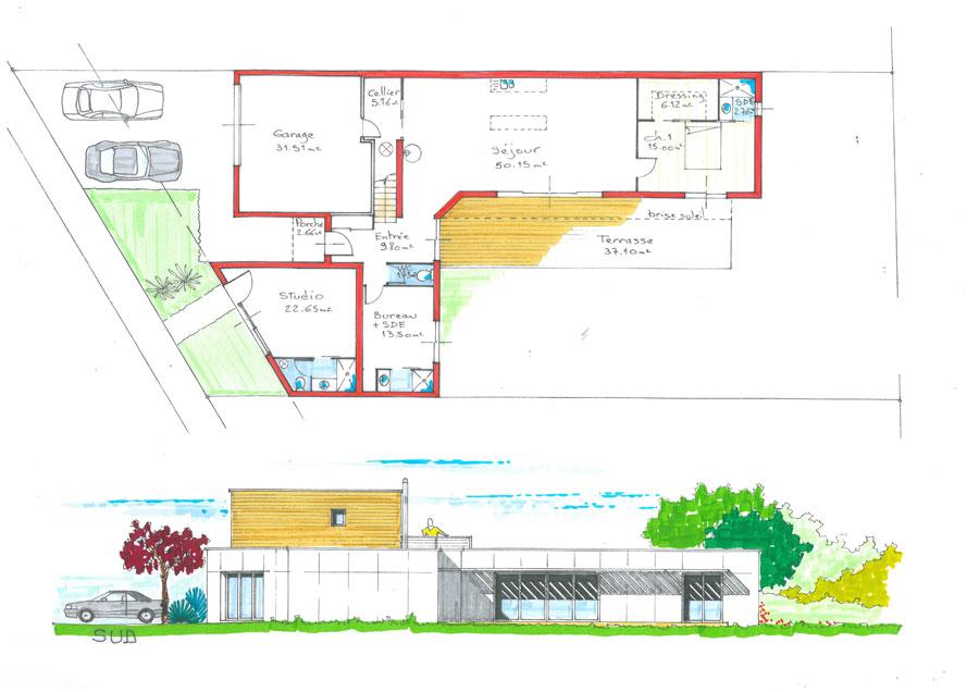Bien connu Plan maison écologique (medium) - Constructeur maison bois CCMI  OY32