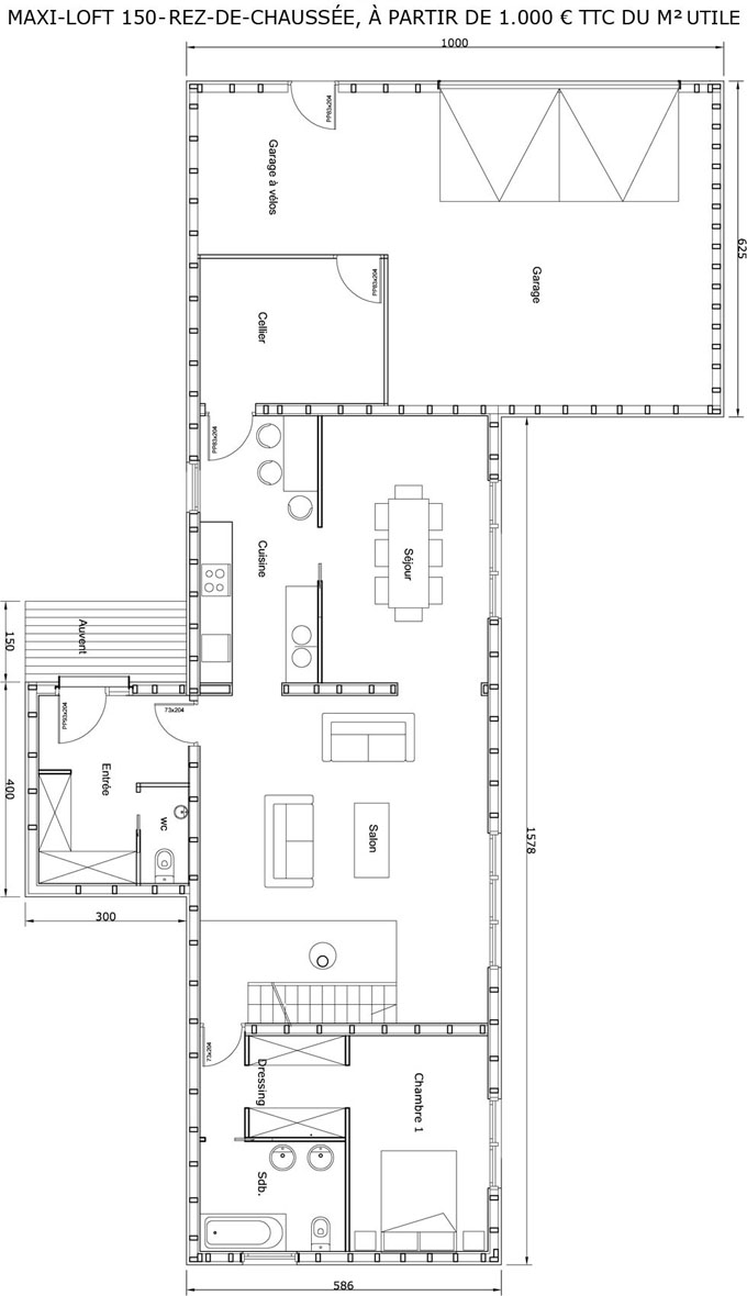 Plan maison cologique medium constructeur maison bois for Plan de loft