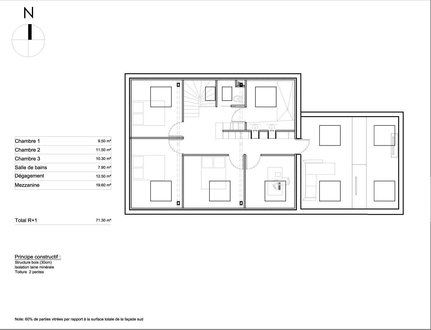 Plan maison etage plan maison etage 19 plan maison for Plan maison 1 etage
