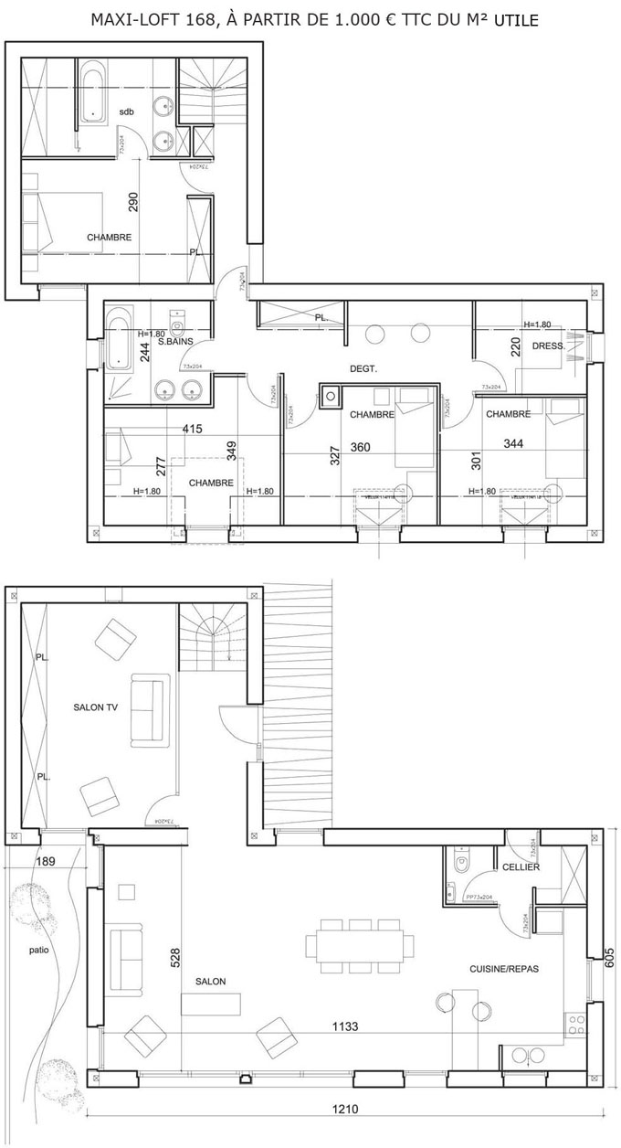 Plans Maisons Plan De Lu0027tage New York Maison Quart