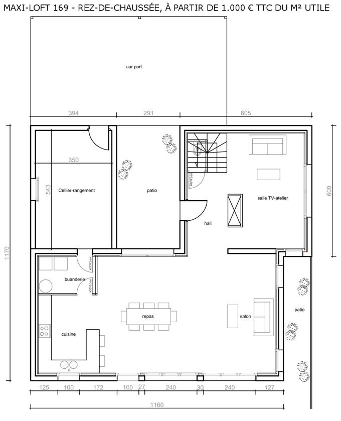 Plan Maison cologique Medium  Constructeur Maison Bois Ccmi Rt